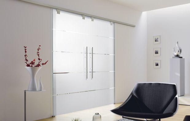 Schiebetür Küche Wohnzimmer: Licht U0026 Harmonie, Motiv Atos, ESG 8mm,  Einseitiger Softeinzug, Griffstange Edelstahl