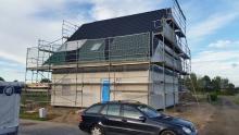 Haus nach zwei Tagen Bauzeit
