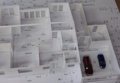 Neubau eines Einfamilienhauses mit Doppelgarage
